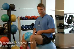 Psoas Strength on Exercise Ball