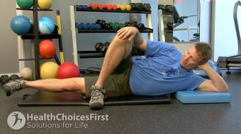 Jackson Sayers, B.Sc. (Kinesiology), discusses ankle-weight assisted abductor strength exercises.