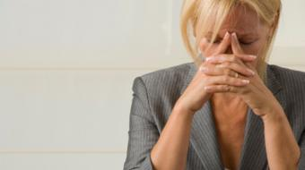exhausted woman menopause