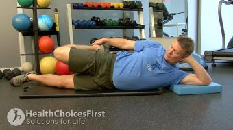 Jackson Sayers, B.Sc. (Kinesiology), discusses hip flexor stretches to build flexibility.