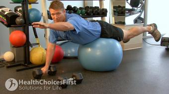 low back single arm exercise