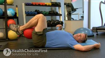 low stomach weight assist exercise