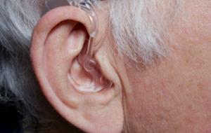 male ear with hearingaid