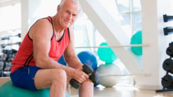 men fit older man exercising