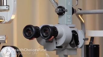 David Mitchell, OD, discusses the slit lamp and how it is used to test your eye health.