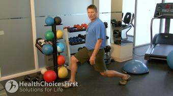 standing lunge exercise