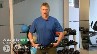 standing shoulder flies side exercise