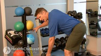 Jackson Sayers, B.Sc. (Kinesiology), discusses standing single arm back strength exercises.