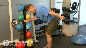 standing tricep exercise