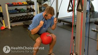 strength low back tubing exercise