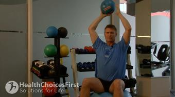 tricep ball exercise