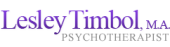 Lesley Timbol, M.A. Psychotherapist